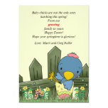 """Hatchling Bird Pregnancy Announcement and Easter C 5"""" X 7"""" Invitation Card"""