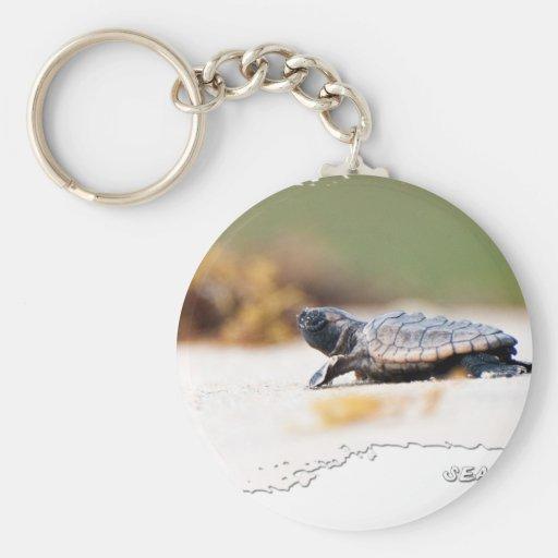 Hatchling de la tortuga de mar llaveros personalizados
