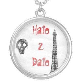 Hate 2 Date Round Pendant Necklace