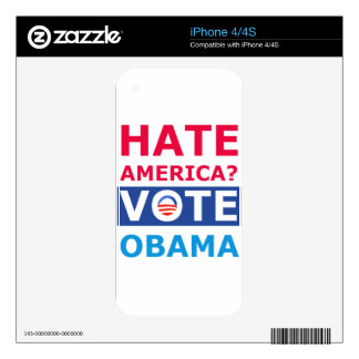 Hate America? Vote Obama (Anti Obama) Decals For The iPhone 4S