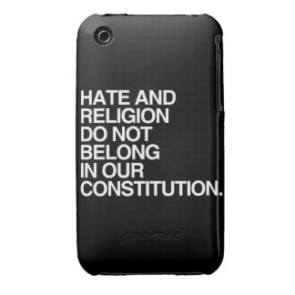 HATE AND RELIGION DO NOT BELONG -.png iPhone 3 Case-Mate Cases