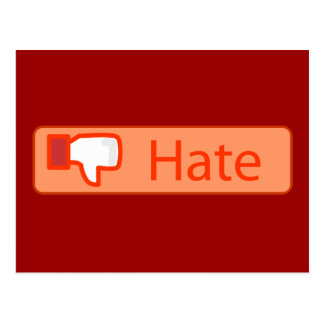 Hate Button Postcard
