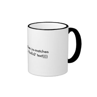 Hate Clojure, unit testing and RegExes? Ringer Mug
