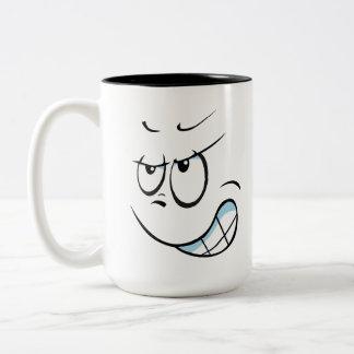 Hate Face Two-Tone Coffee Mug