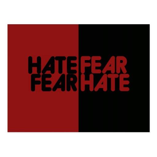 Hate fear fear hate postcards