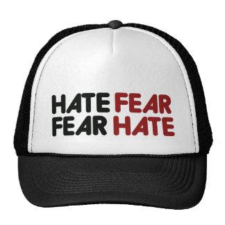 Hate fear fear hate trucker hat