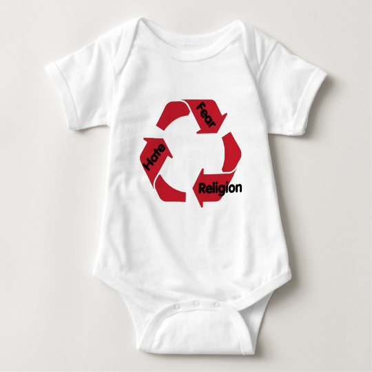 Hate Fear Religion Baby Bodysuit