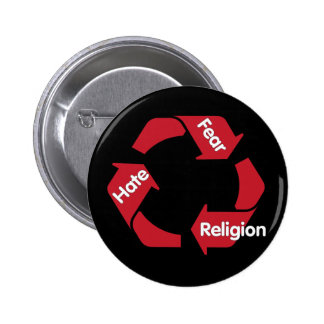 Hate Fear Religion Button