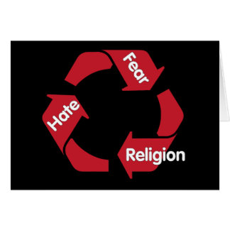 Hate Fear Religion Card