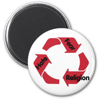 Hate Fear Religion Magnet