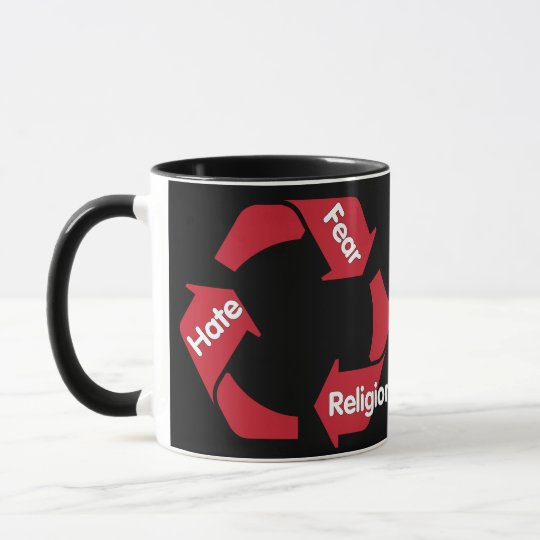 Hate Fear Religion Mug