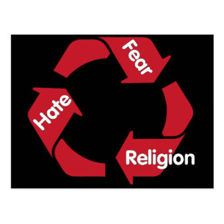 Hate Fear Religion Postcard