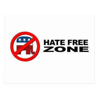 Hate Free Zone 2 Postcard