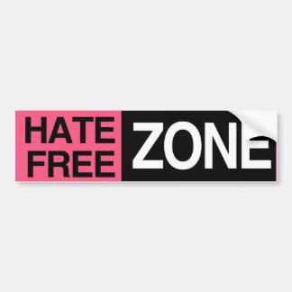 HATE FREE ZONE -.png Car Bumper Sticker