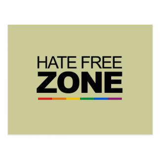 HATE FREE ZONE POSTCARD
