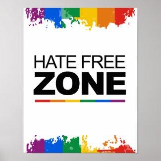 HATE FREE ZONE print