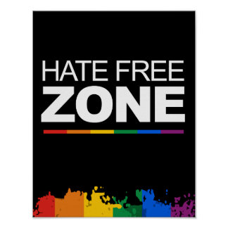 HATE FREE ZONE POSTERS