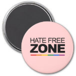 HATE FREE ZONE REFRIGERATOR MAGNETS