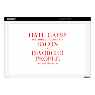 Hate gays you should also hate bacon and divorced laptop decal