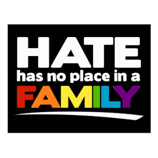 Hate Has No Place in a Family Postcard
