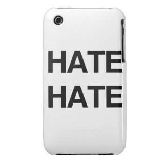 HATE HATE Case-Mate iPhone 3 CASES