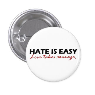 Hate is easy [button]. 1 inch round button