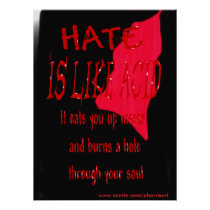 Hate Is Like Acid Blood Poster