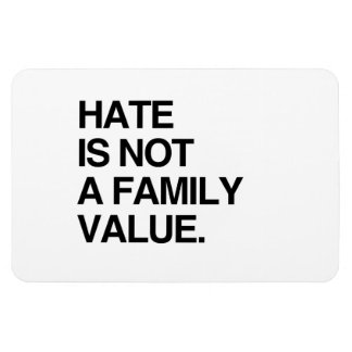 HATE IS NOT A FAMILY VALUE FLEXIBLE MAGNET