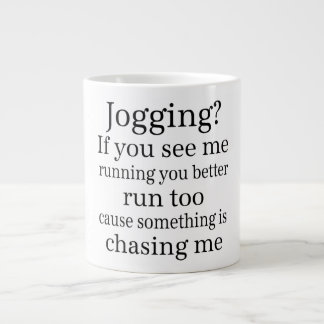 Hate Jogging Quote Large Coffee Mug