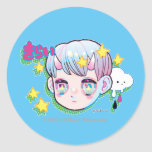Hate (Kirai) Round Sticker, Glossy Classic Round Sticker