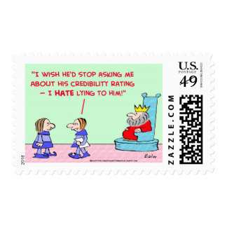 hate lying to king postage stamp