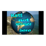 HATE - not welcomed here Bookmark Double-Sided Standard Business Cards (Pack Of 100)