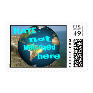 HATE - not welcomed here Postage Stamp