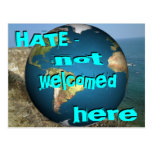 HATE - not welcomed here Postcard