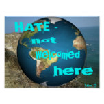 HATE - not welcomed here Print