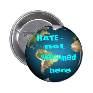 HATE - not welcomed here round2 Button
