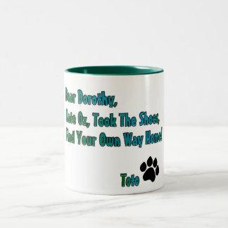 Hate oz Two-Tone coffee mug