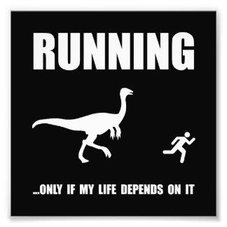 Hate Running Photo Print
