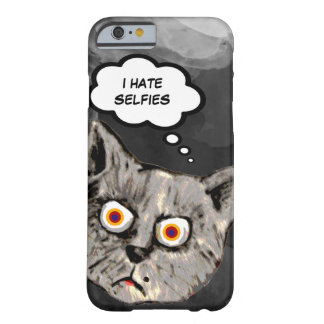 hate selfies funny cat cartoon barely there iPhone 6 case