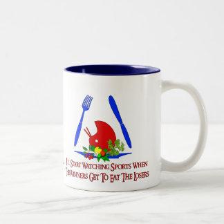 Hate Sports Two-Tone Coffee Mug