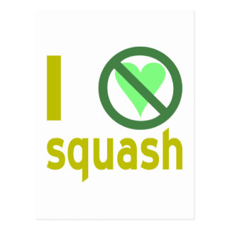 Hate Squash Postcard