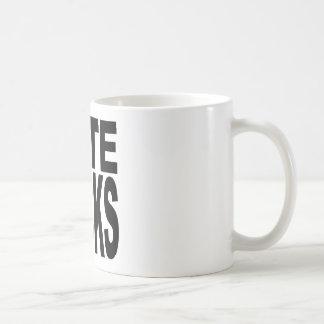 Hate Sucks Classic White Coffee Mug