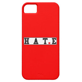 hate text message emotion feeling red dot square iPhone SE/5/5s case