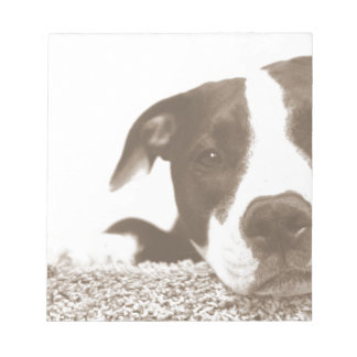 hate the deed not the breed friendly pitbull sepia notepad