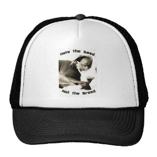 hate the deed not the breed pitbull trucker hat