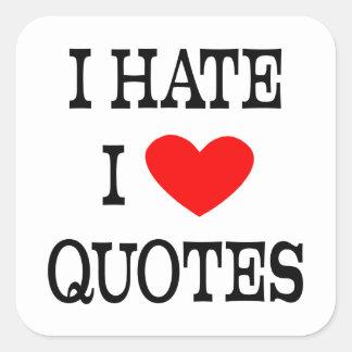 Hate the Hearts Square Sticker