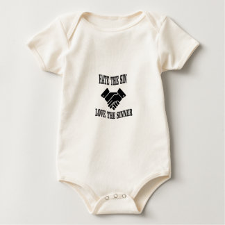 hate the sin love the sinner baby bodysuit