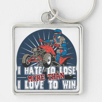 Hate to Lose ATV Keychain