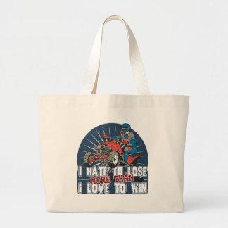 Hate to Lose ATV Large Tote Bag