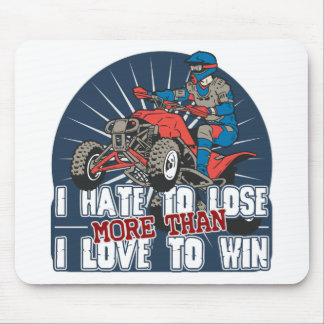 Hate to Lose ATV Mouse Pad